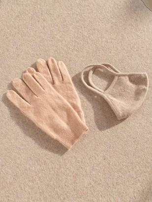 White + Warren Luxe Cashmere Face Mask + Glove Bundle
