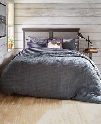 G.H. Bass Textured Flannel Stripe King Comforter Set