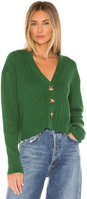 Autumn Cashmere Rib Long Sleeve Cardigan