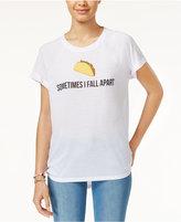 Freeze 24-7 Juniors' Taco Emoji High-Low Graphic T-Shirt