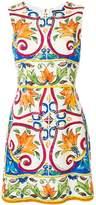 Dolce & Gabbana Abito Tile Print Mini Dress