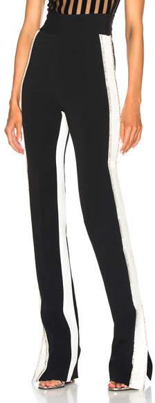 David Koma Side Snap Crystal Trouser Pants