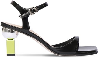 YUUL YIE 70MM BRUSHED LEATHER SANDALS