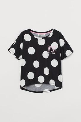 H&M Boxy jersey top