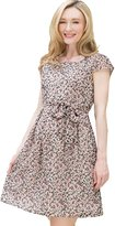 Sweet Mommy Maternity and Nursing Mini Floral Print Chiffon Dress GRL