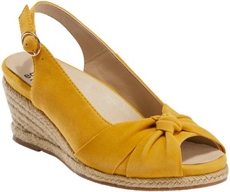 Earth Thara Bermuda Peep Toe Wedge Sandal