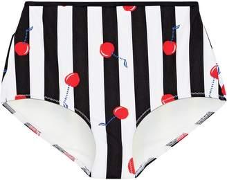 Solid & Striped The Brigitte Printed High-rise Bikini Briefs