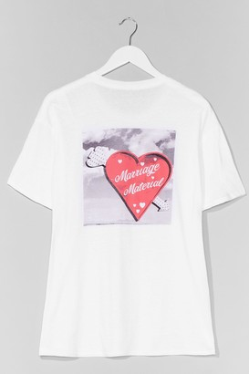 Nasty Gal Womens Marriage Material Plus Graphic Tee - White