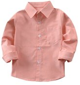 Tortor 1bacha Kid Little Boys' Solid Long Sleeve Button Down Cotton Shirt