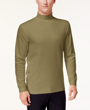 Club Room Men's Solid Mock Neck Turtleneck Shirt, Created for Macy's