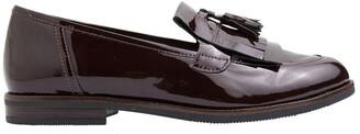 Jane Debster Wade Burgundy Patent Flat Shoes