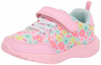 Carter's Girls' Lacie Hook and Loop Athletic Sneaker with Durable Fabric
