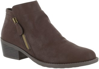 Easy Street Shoes Comfort Side-Zip Closed-Toe Booties- Gusto