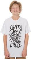 Santa Cruz Kids Boys Rock Hand Tee White