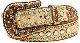 Nocona Western Belt Womens Concho Bling Rhinestones M Gold N3493535