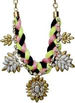 Private Label Womens Braided Statement Necklace OSFA