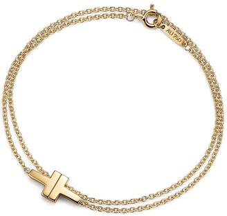 Tiffany & Co. T double chain bracelet in 18k gold, medium
