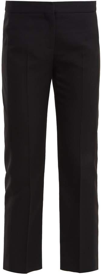 Alexander McQueen Side-panel wool-blend cropped trousers