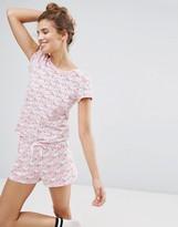 Monki Leopard Print Pajama Short Set
