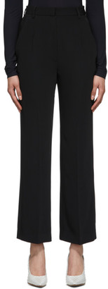 MM6 MAISON MARGIELA Black Straight High-Waist Trousers
