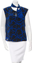 Etienne Aigner Silk Abstract Print Top