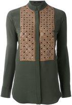Etro panelled shirt - women - Silk/Plastic/PVC/glass - 40