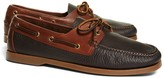 Brooks Brothers Contrasting Leather Boat Shoes