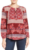 Lucky Brand Mixed Print Blouse