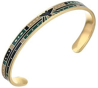 Alex and Ani Color Infusion, Eagle Cuff Bracelet (Shiny Gold) Bracelet