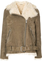 IRO belted shearling jacket