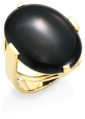 Ippolita Polished Rock Candy Black Onyx & 18K Yellow Gold Ring