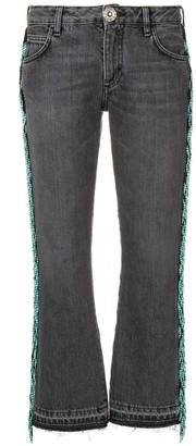 Alanui Bead Fringed Cropped Jeans