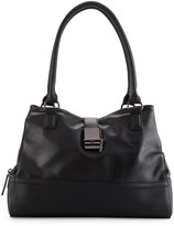 Cynthia Rowley Glory Faux-Leather Satchel Bag, Black
