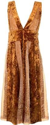 Muller of Yoshio Kubo Muller Of Yoshiokubo Rellian velvet flared dress