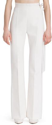 UNTTLD High-Waist Boot-Cut Crepe Pants