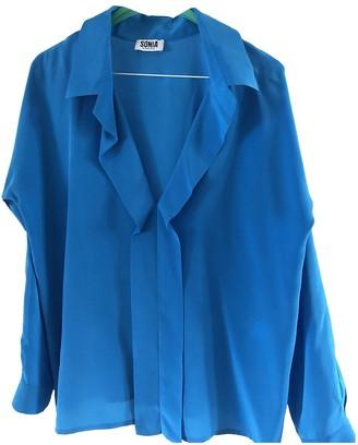Sonia Rykiel Sonia By Blue Silk Top for Women