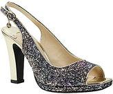 J. Renee Calador Glitter Slingback Peep Toe Metallic Heel Dress Pumps