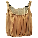 Givenchy Camel Silk Top