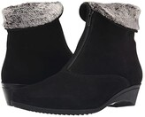 La Canadienne Evitta (Black Suede) Women's Zip Boots