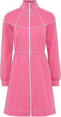 Valentino Zip-detailed Stretch-ponte Mini Dress
