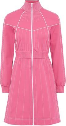 Valentino Zip-detailed Stretch-ponte Mini Dress