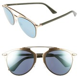 Christian Dior Women's Reflected 52Mm Brow Bar Sunglasses - Brown Havana