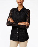 Charter Club Lace Shirt, Only at Macy's