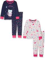 Mothercare Baby Girls' Space Cat- 2 pack clothing set Bodysuit
