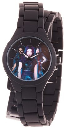 Disney Descendants 3 Evie,Mal,Uma Girl's Black Alloy Watch, 1-Pack