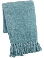 Pier 1 Imports Turquoise Chenille Throw