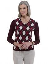 Merino Argyle V-Neck Sweater