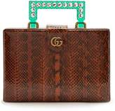 Gucci Broadway embellished perspex-handle snakeskin bag