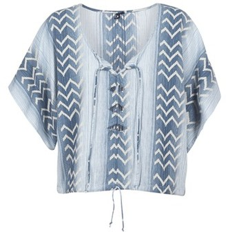 Rip Curl SKIES ABOVE COVER UP women's Blouse in Blue