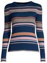 Frame Striped Long-Sleeve Sweater